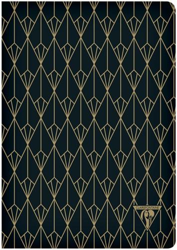 Notitieboek Neo Deco A5 48vel lijn ebben zwart