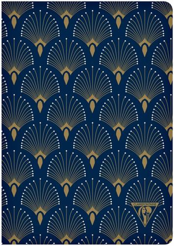 Notitieboek Neo Deco A5 48vel lijn pauw blauw