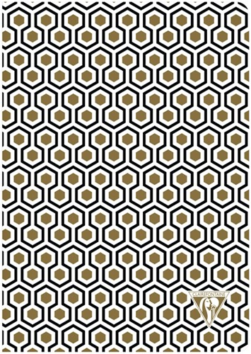 Notitieboek Neo Deco A5 48vel lijn zwart goud