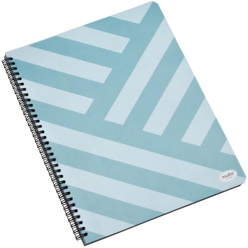 Projectboek Multo A4 lijn met kleurverdeling blauw