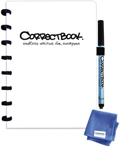 Notitieboek Correctbook uitwisbaar en herbruikbaar A5 blanco 40blz inspirational white
