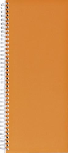 Winkelboek smalfolio 160blz met zijspiraal oranje