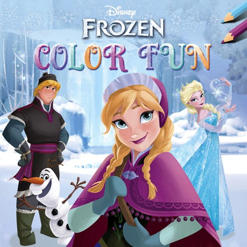 Kleurboek Deltas Disney Frozen color fun