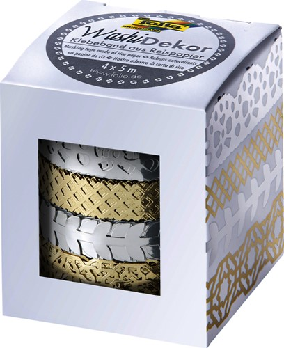 Washi tape Folia hotfoil zilver en goud