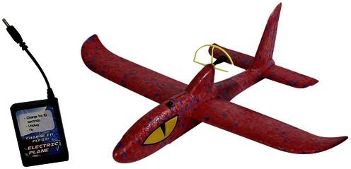 Vliegtuig foam met motor 35,5x36x10cm