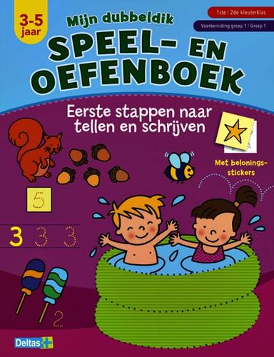 Speel- en oefenboek dubbeldik eerste stappen naar tellen en schrijven