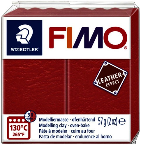 Klei Fimo  leather-effect 57 gr watermeloen
