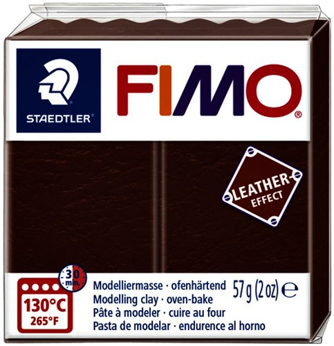Klei Fimo  leather-effect 57 gr noot
