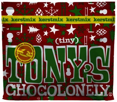 Tony's Chocolonely kerst tiny à 20 stuks assorti
