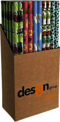 Inpakpapier Design Group teens 200x70cm doos à 60 rollen assorti