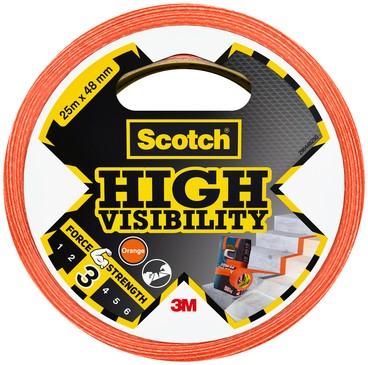 Plakband Scotch high visibility 48mmx25m oranje