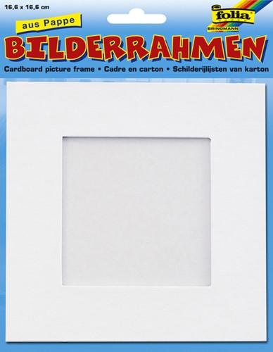 Fotoframe Folia karton 166x166mm wit