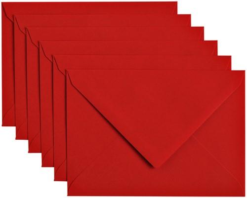 Envelop Papicolor C6 114x162mm Rood