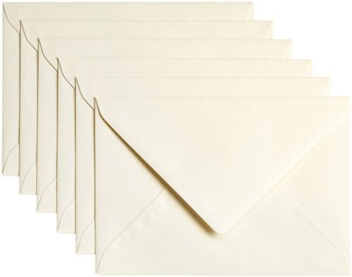 Envelop Papicolor C6 114x162mm Ivoor