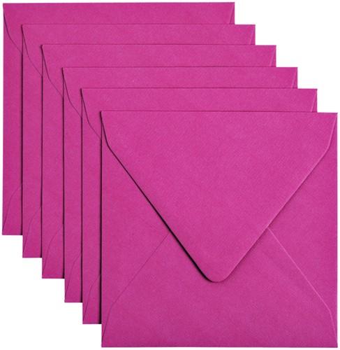 Envelop Papicolor 140x140mm Felroze