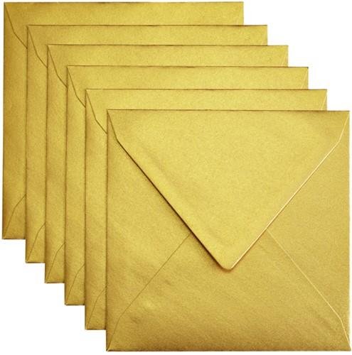 Envelop Papicolor 140x140mm Goud