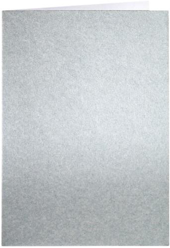 Correspondentiekaart Papicolor dubbel 105x148mm Zilver