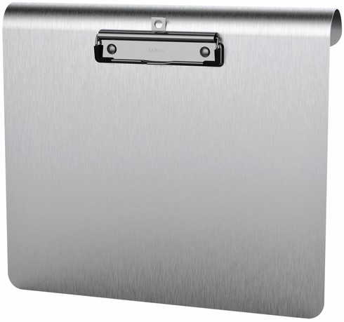 Klembord MAUL Medic A4 dwars aluminium met RVS klem