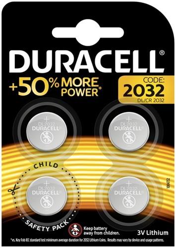 Batterij Duracell knoopcel 4xCR2032 lithium Ø20mm 3V-180mAh