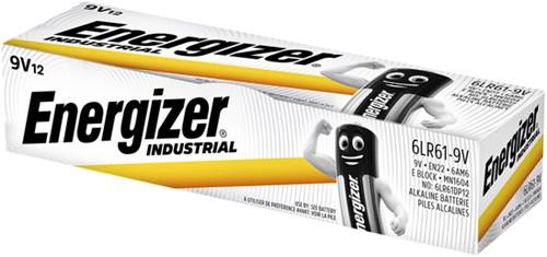 Batterij Industrial 9Volt alkaline doos à 12 stuks