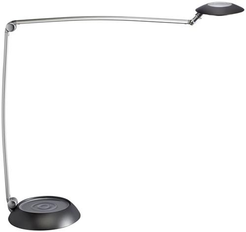 Bureaulamp MAUL Space LED voet dimbaar antraciet zilver