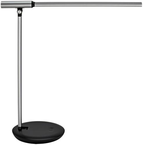 Bureaulamp MAUL Rubia LED voet dimbaar colour vario + usbpoort zilver