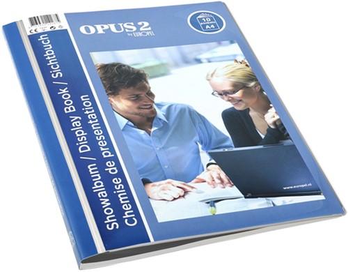 Showmap Opus 2 frontview A4 10-tassen wit
