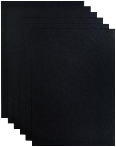 Kopieerpapier Papicolor A4 200gr 6vel ravenzwart