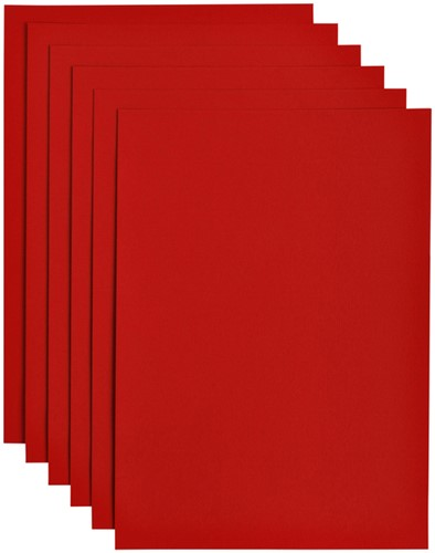 Kopieerpapier Papicolor A4 200gr 6vel rood