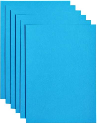 Kopieerpapier Papicolor A4 200gr 6vel hemelsblauw