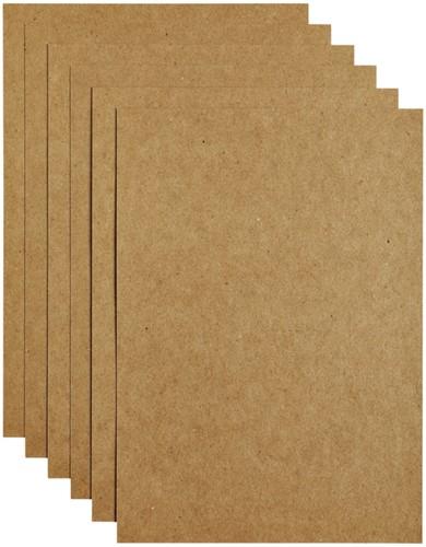 Kopieerpapier Papicolor A4 200gr 6vel kraft bruin