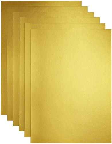 Kopieerpapier Papicolor A4 120gr 6vel goud