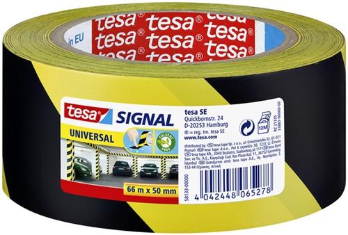 Waarschuwingstape Tesa 58133 geel/zwart