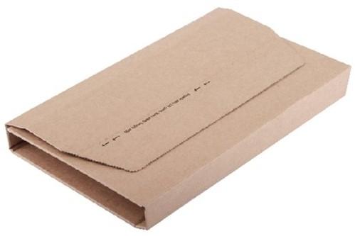 Wikkelverpakking Budget A5 +zelfklevende strip bruin