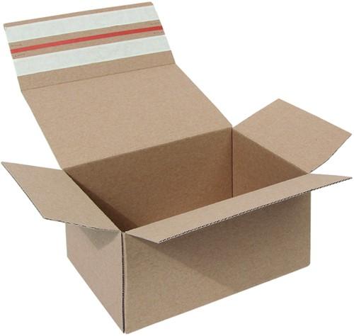 Postpakketbox Budget 2 200x140x80mm bruin