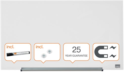 Glasbord Nobo Impression Pro 680x380mm briljant wit