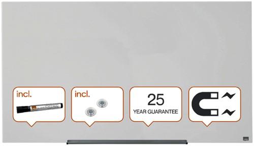 Glasbord Nobo Widescreen 126x71,1cm briljant wit