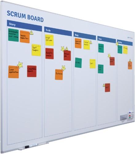 Scrum bord + starterkit scrum 90x120cm