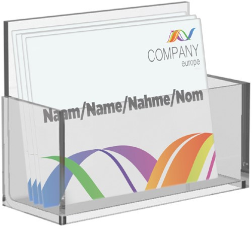 Visitekaartenbak OPUS 2 bali glashelder acryl
