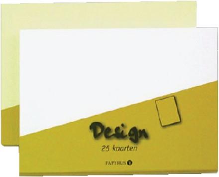 Dubbele kaarten +enveloppen Papyrus 130x130mm ivoorwit