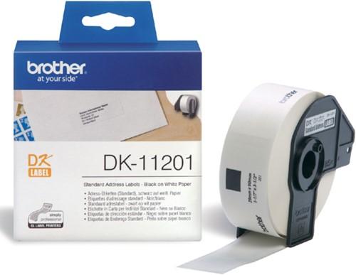 Etiket Brother DK-11201 29x90mm adres 400stuks
