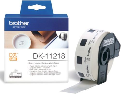 Etiket Brother DK-11218 24mm rond 1000stuks