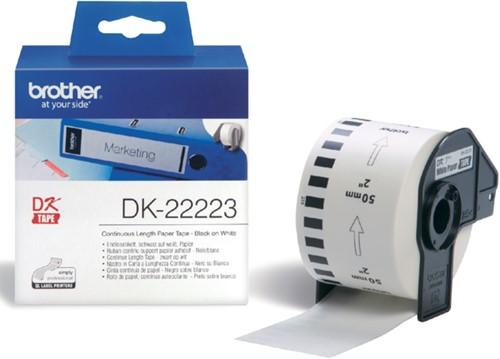 Etiket Brother DK-22223 50mm thermisch 30-meter wit papier