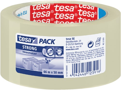 Verpakkingstape Tesa 50mmx66m transparant PP