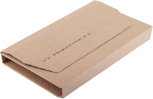 Wikkelverpakking CleverPack A4 +zelfkl strip bruin 25stuks