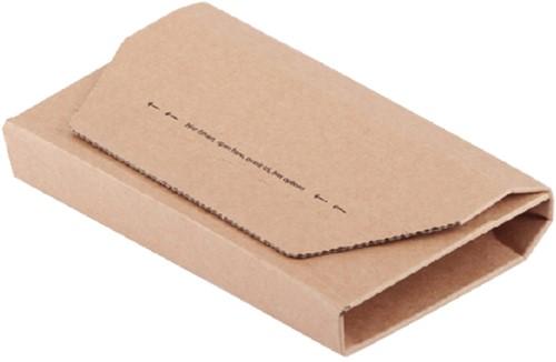 Wikkelverpakking CleverPack cd +zelfkl strip bruin 10stuks