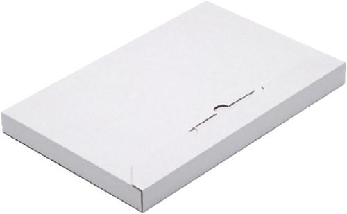 Brievenbusbox CleverPack A4 350x230x26mm karton wit 5stuks