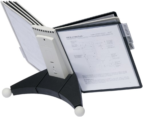 Bureaustandaard Durable 5632 Sherpa met 10-tassen zwart/grij