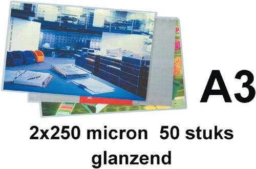 Lamineerhoes GBC A3 2x250micron 50stuks