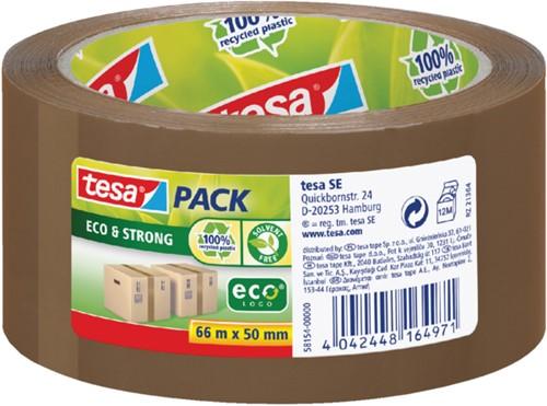 Verpakkingstape Tesa 50mmx66m Eco bruin